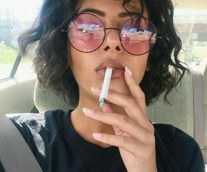 hair, smoke, and tumblr image