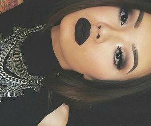 beautiful, black, and lipstick image