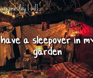 garden, sleepover, and text image