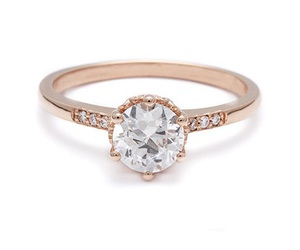 engaging, engagement ring, and wedding image