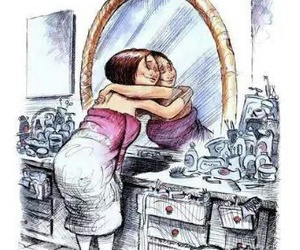 mirror and love yourself image