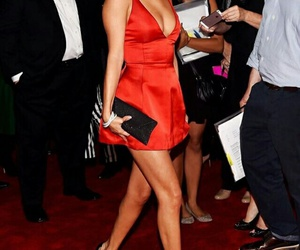 selena gomez, dress, and red image
