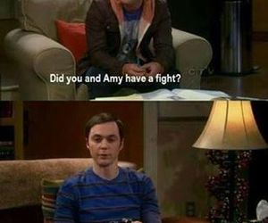 fight, the big bang theory, and sheldon cooper image