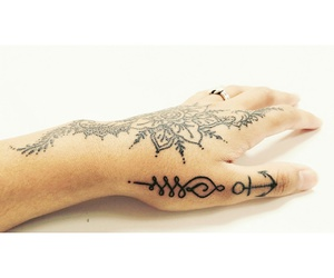 anchor, henna, and handtattoos image