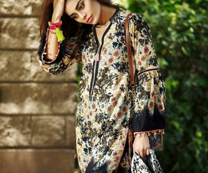 models, khaadi, and lawn collection image