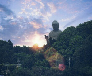 Buddha and sky image