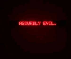 evil, red, and aesthetic image