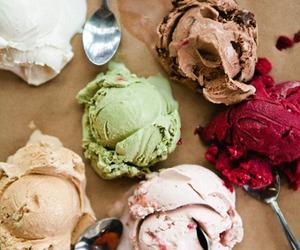 ice cream, food, and icecream image