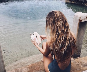 summer, girl, and hair image