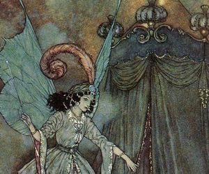 Edmund Dulac, butterfly wings, and drapes image