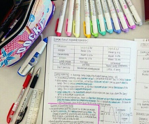 school, notes, and motivation image