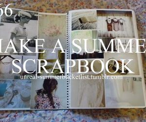 summer and scrapbook image