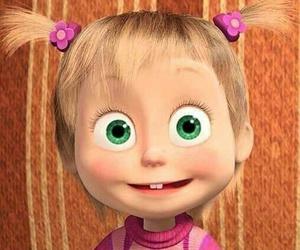 animation, carton, and green+eyes image