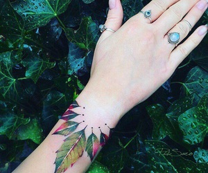tattoo, nature, and leaves image