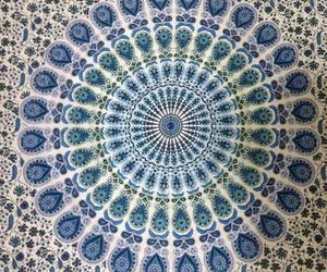 blue, mandala, and peacock image