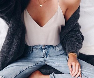 blonde, sweater, and fashion image