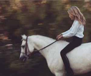 gigi hadid and horse image