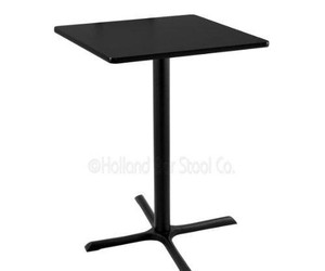 black table, square top, and holland bar stool image