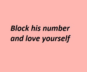 quotes, pink, and block image