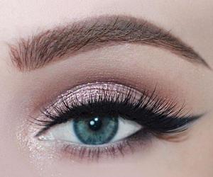 eye liner, eye makeup, and eyes image