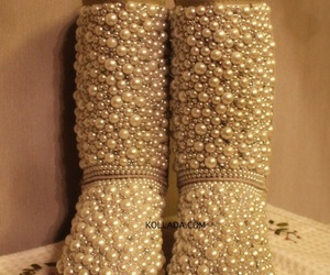 fashion, pearls, and shoes image
