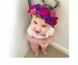 babys, so cute, and flowers image