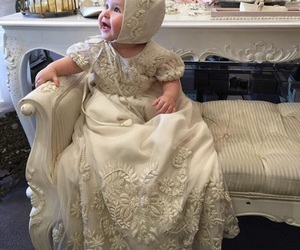 adorable, christening, and baby image