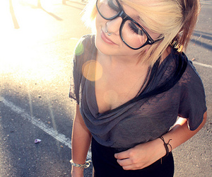 elli altman, girl, and glasses image