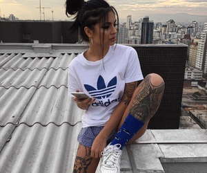girl, tattoo, and adidas image