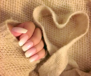 beauty, beige, and heart image
