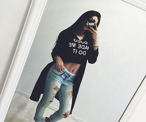 brunette, fashion, and outfit image