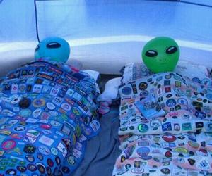 alien, grunge, and sleep image