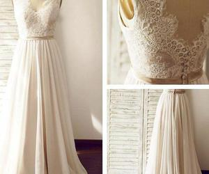 wedding dress, lace wedding dress, and wedding dresses lace image
