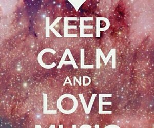 keep calm and love music image