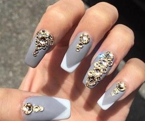 fake nails, nail art, and nailpolish image