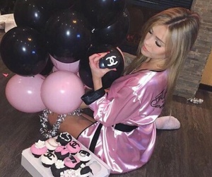 girl, blonde, and cupcakes image