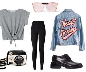 betsey johnson, denim jacket, and outfit image