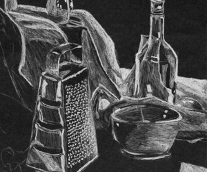 black, drawing, and table image