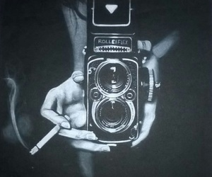 black and white, black, and camera image