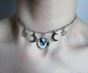 moon, stars, and necklace image