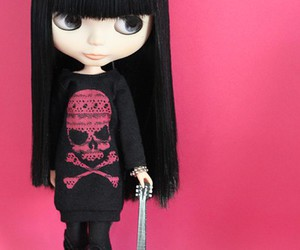 doll, rock, and black image
