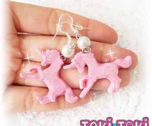 etsy, polymer clay charms, and hologram unicorn image