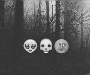 emoji, dark, and alien image