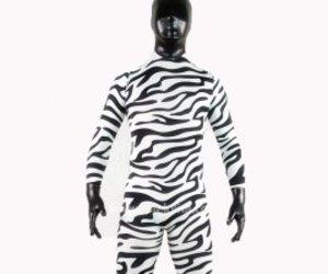 lycra zentai suit, halloween costumes, and zebra rubber zentai suit image