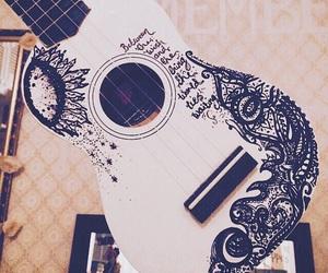 ukulele, art, and music image