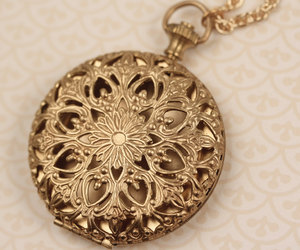 etsy, long chain locket, and long necklace image