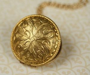 art nouveau locket, etsy, and art nouveau necklace image