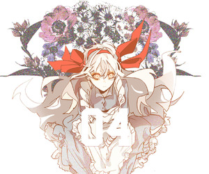 flowers, marry, and red eyes image