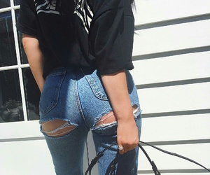 kylie jenner, jeans, and style image