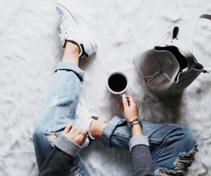 fashion, adidas, and coffee image